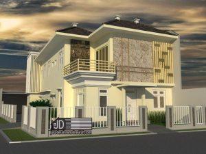 desain rumah kos modern tropis