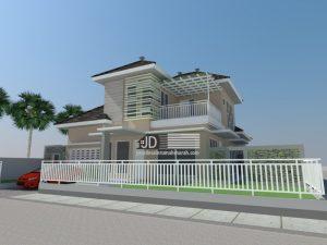Jasa Desain Rumah Modern Tropis 2 Lantai Ibu Yesi Yuliani Di Pare-Pare Sulawesi Selatan