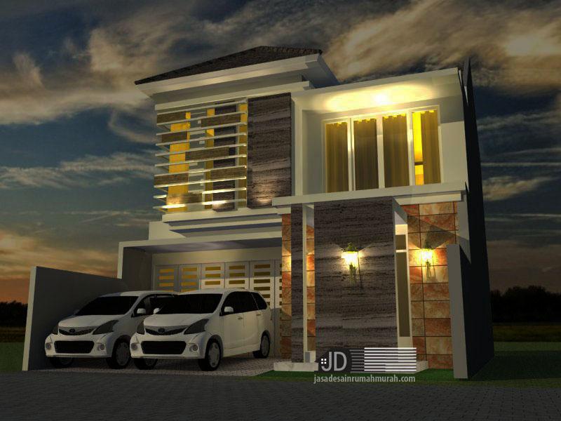 Desain Rumah Modern Tropis Bapak Chiqni Rinaldi Di Bekasi Jasa