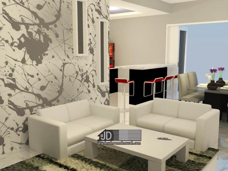 Desain Iterior ruang keluarga Ibu Ratna