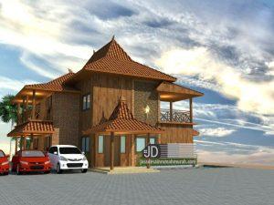 Desain rumah Jawa Bapak Wahyu Wibowo di Salatiga