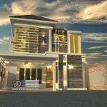Desain Rimah Modern Tropis Bapak Chiqni Rinaldi di Bekasi