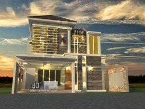 Rmah Modern Tropis Bapak Chiqni Rinaldi di Bekasi