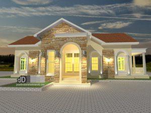 Desain Villa Modern Tropis milik Bapak Mahyudin Kalimantan Tengah (Order kedua)