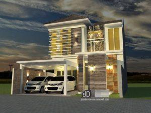 jasa desain rumah modern tropis