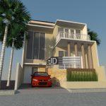 Desain Rumah modern tropis Bapak Edi Sugiono di Jakarta