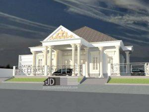 Desain rumah klasik 1 lantai Bapak Rahmatullah di Aceh Sumatra Utara