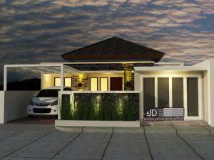 Desain rumah 1 Lantai Bapak Candra