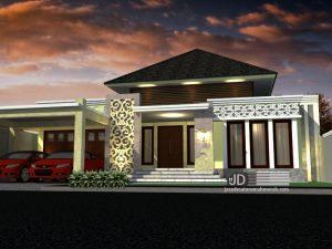 Desain Rumah Bali Modern 1 Lantai