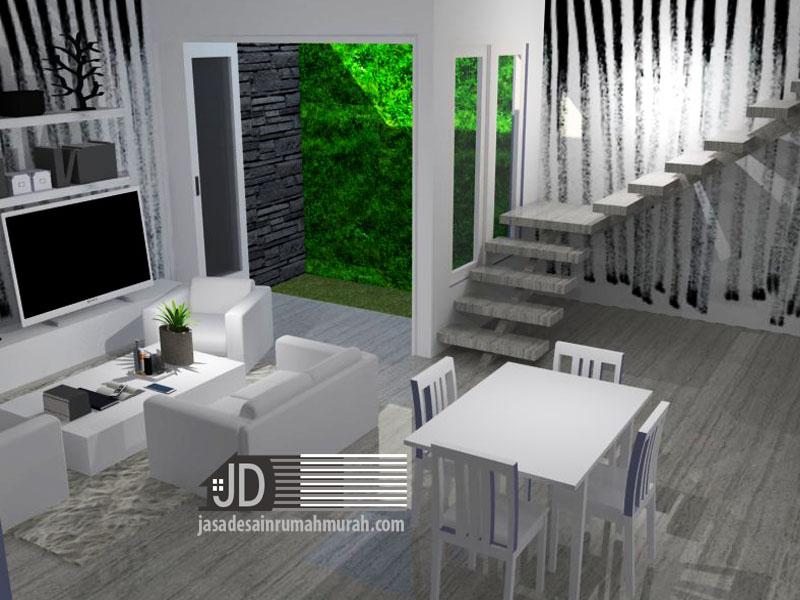 Desain Interior ruang keluarga lantai 1