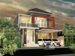 Desain Rumah Modern Kontemporer Bapak Farid Yuniarto di Jakarta