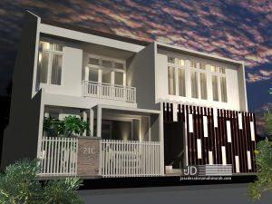 Desain Rumah Kos 2 Lantai Bapak Didik Mardiantara di Malang
