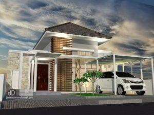 Jasa Desain Rumah Modern Tropis Ibu Yani di Joggol Jakarta