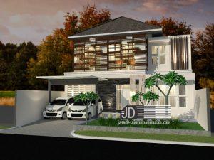 Jasa Desain Rumah Mewah Bapak Iskandar di Depok