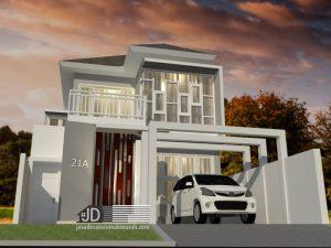 Jasa desain rumah minimalis modern Bapak Hendra di Jakarta