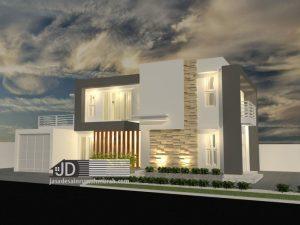 Jasa Desain Rumah Modern Kontemporer Mewah Ibu Nurfadilah di Malang