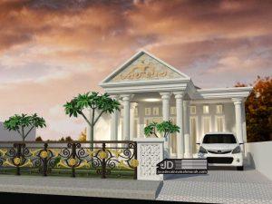Desain Rumah Eropa Bapak Widodo di Mojokerto