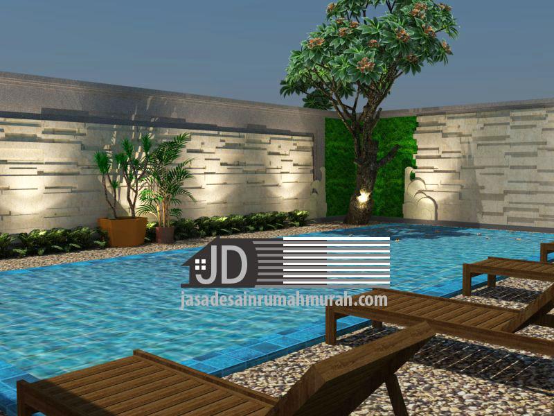 jasa desain rumah kolam renang