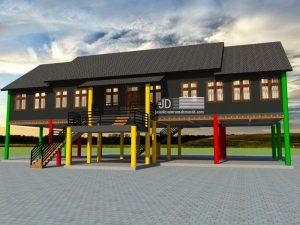 Gambar 3D Rumah Dayak