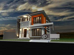 Jasa Desain Rumah mewah 2 lantai Bapak Agung Tjahyono di Jakarta