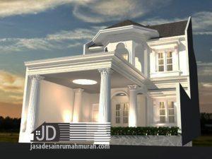 Jasa desain rumah eropa klasik Bapak Abdul Muis di Tangerang
