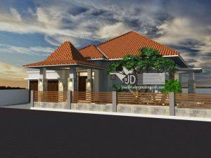 Desain Rumah Jawa Bapak Pandi Tirtoutomo di Temanggung Jawa Tengah