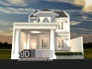 Jasa Desain Rumah Eropa Klasik Mewah Bapak Abdul Muis Di Tangerang
