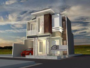 Jasa Desain Rumah Minimalis Modern Luas Tanah 8,25 x 12 m Bapak Pujianto di Jakarta