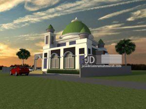 Desain masjid Bapak Pandi Tirtoutomo di Temanggung Jawa Tengah