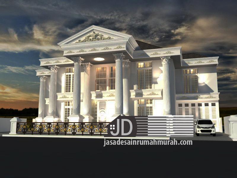 desain rumah eropa klasik mewah