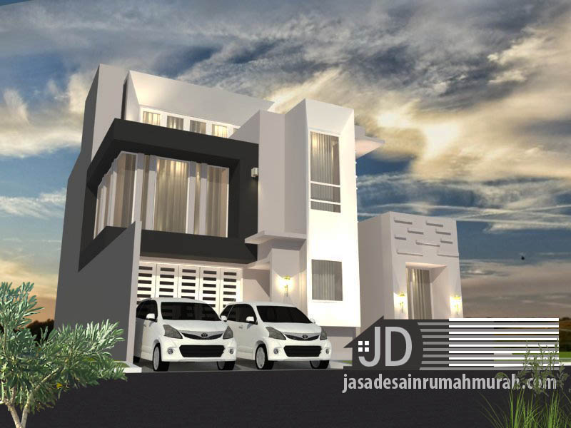 desain rumah mewah modern kontemporer