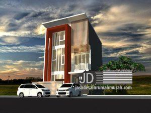 Jasa desain rumah modern kontemporer Bapak Ady Rochwiatomo di Jakarta