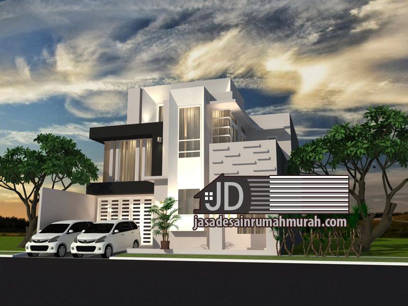 desain rumah modern kontemporer mewah