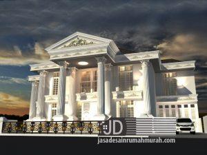 Jasa desain rumah eropa klasik mewah Bapak Hamdani Yuafi di Jakarta