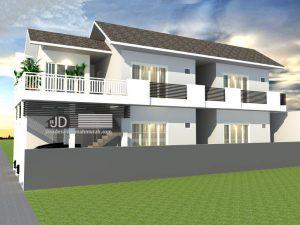 Jasa desain kontrakan 2 lantai - Bapak Anton Teguh di Jakarta