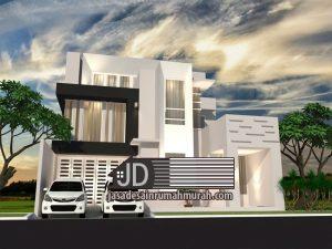 Desain rumah modern kontemporer mewah Bapak Irfan Hendrawan di Balikpapan