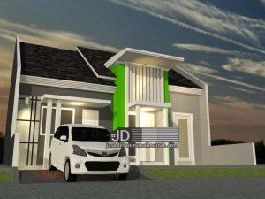 Desain Rumah Minimalis 1 lantai Bapak Ahmad Jaiz di Makassar