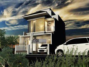 Jasa Desain Rumah Modern Tropis Elegant 3 Lantai Bapak Joko di Jakarta