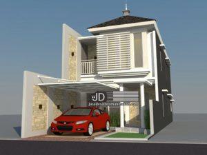 Jasa Desain Rumah Minimalis Modern 2 Lantai Bapak Budi Sutrisno di Malang