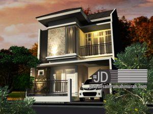 Jasa Desain Rumah Modern Tropis 2 Lantai Bapak Andre Wicaksana di Jakarta