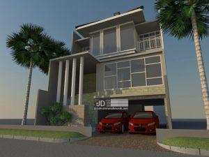 Jasa Desain Rumah Modern Tropis Mewah 3 Lantai Ibu Khusnul Sumanrana Di Jakarta