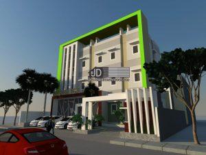 Jasa Desain Rumah Kos 3 Lantai Bapak Erzon Djazai,