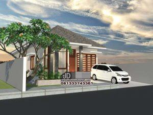 Jasa Desain Rumah Sederhana Elegant 1 Lantai Di Jakarta – Ibu Yani Kurniasari (Order Kedua)