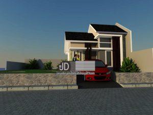 Desain rumah minimalis 1 lantai tipe 36, bapak Christanto