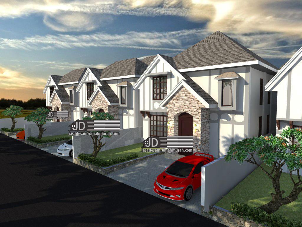 desain rumah farm house elegant