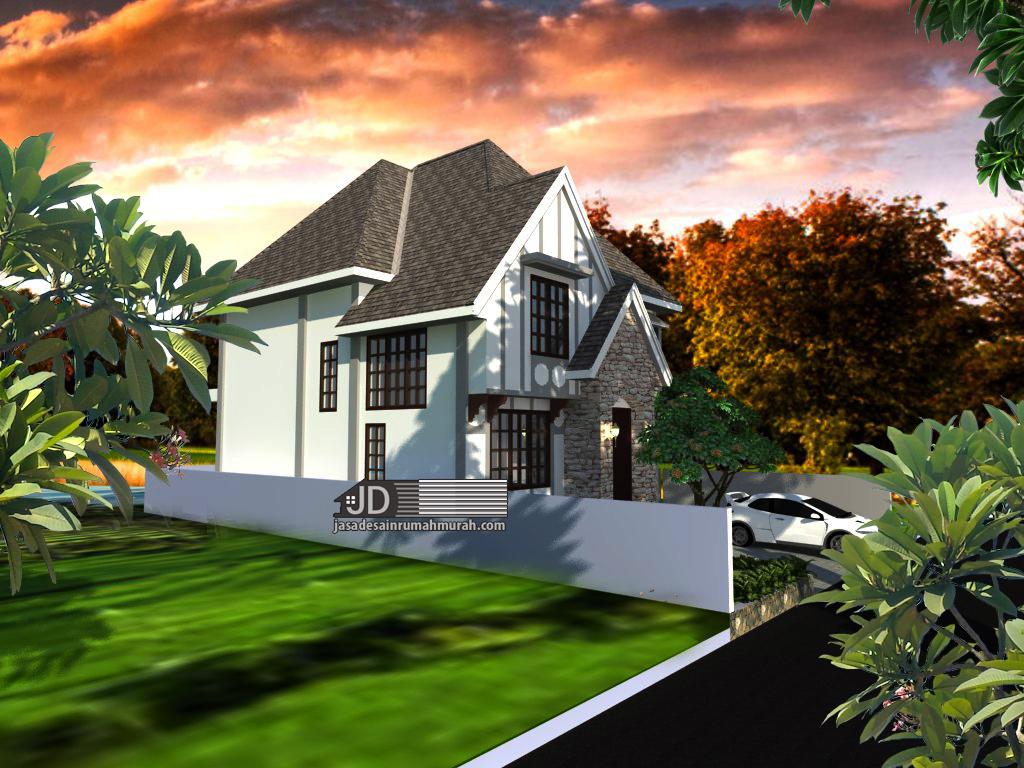 desain rumah gaya farm house