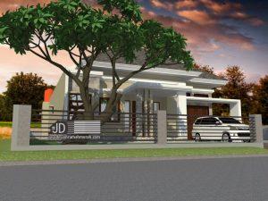 Jasa Desain Rumah Minimalis Elegant 1 Lantai Bapak Navrizal Iswar di Mandailing Natal Sumatra Utara