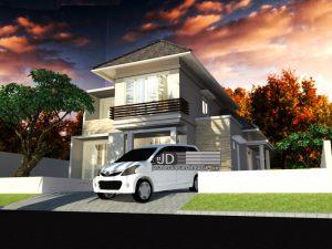 Jasa Desain Rumah Minimalis Modern 2 Lantai Bapak Meylarto Rerung di Nabire Papua