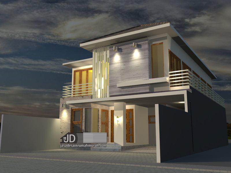 desain rumah kos minimalis modern