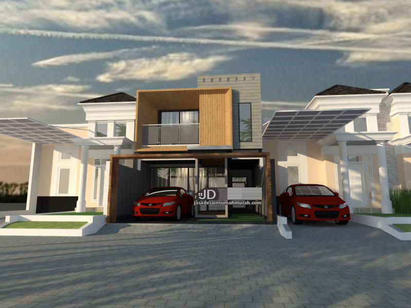 desain rumah modern kontemporer 2 lantai